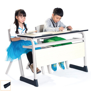 LL4-034 Double school study desk student table and chair modern kids school furniture