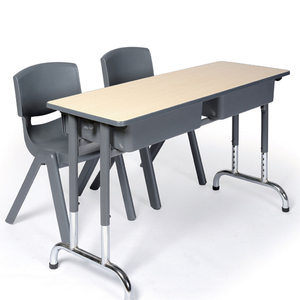 LL4-081 Fixed school desk and chair double seats for sell