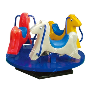 Playground merry go round rotating horse