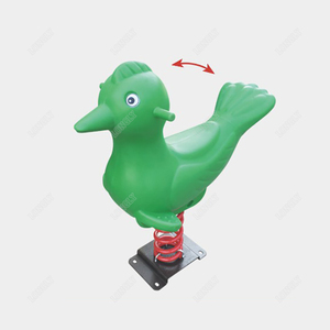 Bird shape spring rocking horse for amusement park