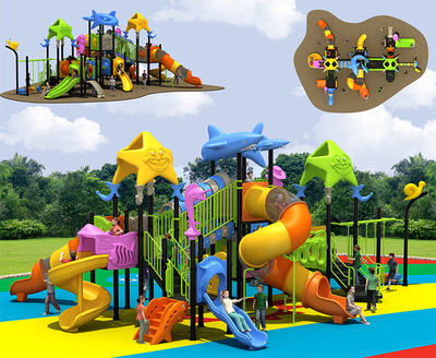 LL-210017 Colorful new design kindergarten play equipment children outdoor playground
