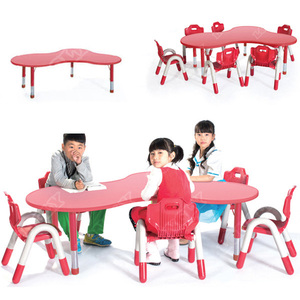 LL3-094 Colorful popular plastic nursery primary school tables and chairs