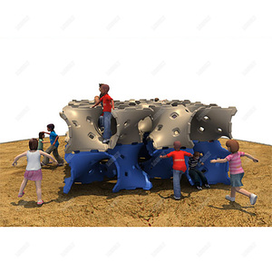 Outdoor play equipment for climbing training