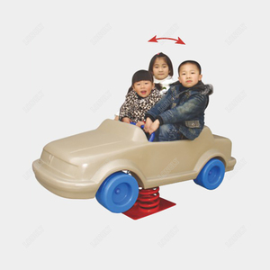Car shape spring rocking horse for children fun