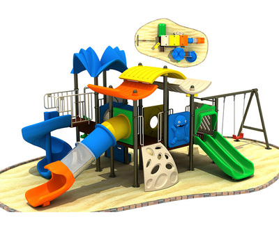 LL-240007 Outdoor Play Equipment Disabled Playground Play Equipment for Commercial Playgrounds