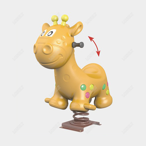 Cartoon giraffe plastic rocking horse for sale