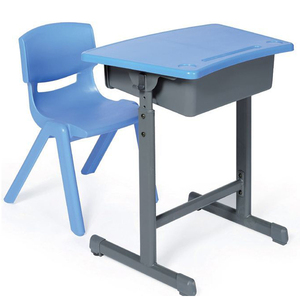 LL4-032 Children plastic student desk and chair for school classroom