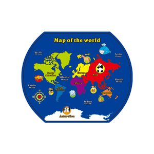 Kids World Map Learning Carpets