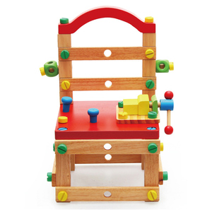 Wooden Assembling Toys Assembling Puzzle Chairs Games