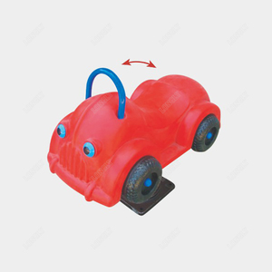 Car shape rocking horse for kids amusement